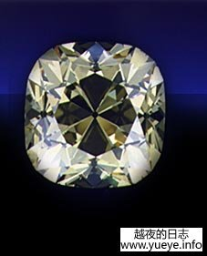 De Beers diamond front view