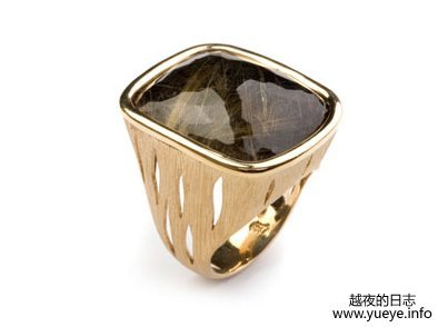 Vancox Black Quartz Ring